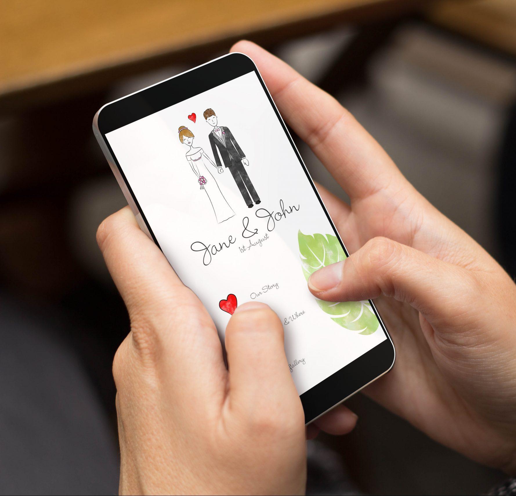 Invitatii nunta digitalizate